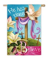 He Is Risen, Believe Flag, Large