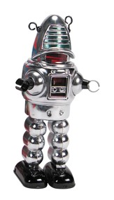 Tin Chrome Planet Robot