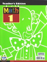BJU Math Grade 1 Teacher's Edition (Third Edition)