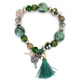 Prayer Box, Tassel Bracelet, Jade
