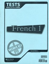 BJU French 1 Tests Answer Key, Second Edition