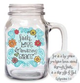 Faith, Love, Amazing Grace Glass