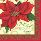 Christmas, Poinsettias Napkins, Pack of 20