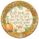 Thanksgiving, O Give Thanks Unto the Lord Paper Plates, Pack of 8