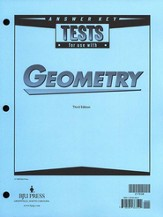 BJU Geometry Tests Answer Key, Grade 10 (Third Edition)