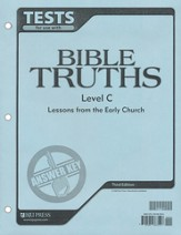 BJU Bible Truths Tests Answer Key Level C (Grade 9), Third Edition