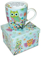 Buhos Sobre Árboles, Taza  (Owls On Trees Mug)