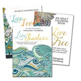 Live Loved; Live Free; Live Fearless: Adult Coloring Adult Coloring Books -- Slightly Imperfect