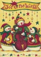 Snowmen Concert (Luke 2:14, KJV), 20 Count Boxed Christmas Cards