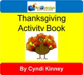 Thanksgiving Turkey Talk Activity Book - PDF Download [Download]