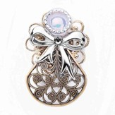 Always Brave Angel Pin, Gray