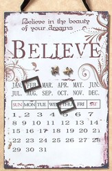 Believe Magnetic Calendar