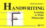 Learning to Write Manuscript Grade 1, Handwriting Practice Book