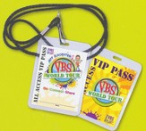 Jeff Slaughter VBS World Tour: Name Badges with Lanyards, pack of 25