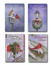 Christmas Cardinals, Assorted Christmas Cards, Box of 12
