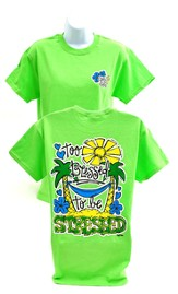 Girly Grace Blessed Shirt, Lime,  Large