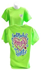Girly Grace Sisters Shirt, Lime,  Small