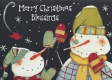 Modern Snowman (Psalm 118:24, KJV), 20 Count Boxed Christmas Cards
