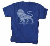 Roaring Like A Lion Shirt, Blue, X-Large