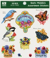God's Wonders Assortment Stickers
