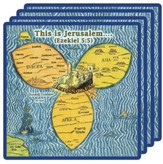 Jerusalem Center Coasters, Set of Four