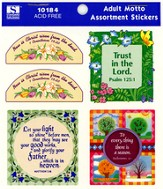Adult Motto Assortment Stickers  - Slightly Imperfect