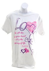 Love Above All Else Shirt, White, Large