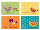 Birds, Thank You Cards, Box of 12