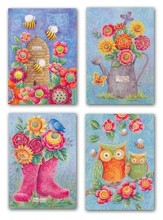 Owls and Boots, Thinking Of You Cards, Box of 12