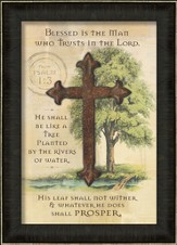 Blessed Is the Man Who Trusts In the Lord, Cross, Framed Art