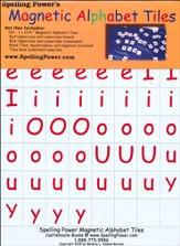 Spelling Power Magnetic Alphabet Tiles Only