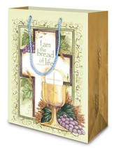 Communion, Cross and Chalice Gift Bag, Medium