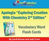 Apologia Exploring Creation With Chemistry Vocabulary Word Flash Cards (2nd Edition) - PDF Download [Download]