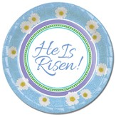 Easter, He Is Risen Paper Plates, Pack of 8