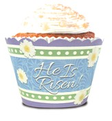 Easter, He Is Risen Cupcake Wrappers, Pack of 12
