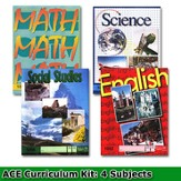 ACE Core Curriculum Kit (4 Subjects), PACEs Only, Grade 5, 3rd Edition (with 4th Edition Social Studies)