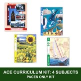 ACE Core Curriculum Kit (4 Subjects), PACEs Only, Grade 7, 3rd Edition (with 4th Edition Math & Social Studies)