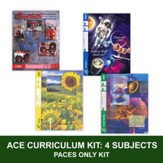 ACE Core Curriculum Kit (4 Subjects), PACEs Only, Grade 8, 3rd Edition