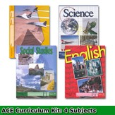 ACE Core Curriculum (4 Subjects), Single Student PACEs Only Kit, Grade 12, 3rd Edition