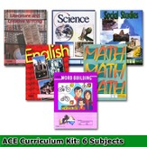 ACE Comprehensive Curriculm (6 Subjects), Single Student PACEs Only Kit, Grade 5, 3rd Edition (with 4th Edition Social Studies)