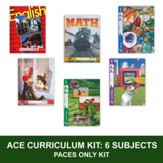 ACE Comprehensive Curriculum (6 Subjects), Single Student PACEs Only Kit, Grade 6, 3rd Edition