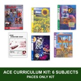 ACE Comprehensive Curriculum (6 Subjects), Single Student PACEs Only Kit, Grade 8, 3rd Edition (with 4th Edition Math)