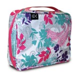 Paisley and Leaves Nylon Bible Cover, Pink and Teal, X-Large