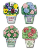 Potted Posies Birthday Cards, Box of 12