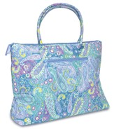 God Will Be with You Quilted Weekender Bag, Blue