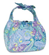 Be of Good Cheer Quilted Hobo Bag, Blue