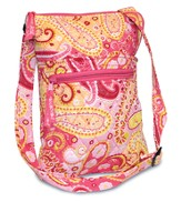 Paisley Quilted Cross-Body Bag, Pink