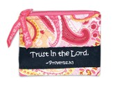 Trust in the Lord Coin Purse, Pink