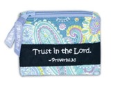 Trust in the Lord Coin Purse, Blue