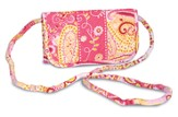 Paisley Quilted Hanging Wallet, Pink